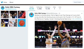 Find out the latest news on Fantasy basketball injuries in Twitter
